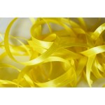 10 mètres de ruban satin jaune 6 mm de large