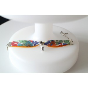 Bracelet Ajustable Enfant Biais Liberty Small Suzanna Multicolore , Beliere Et Breloque Coquillage